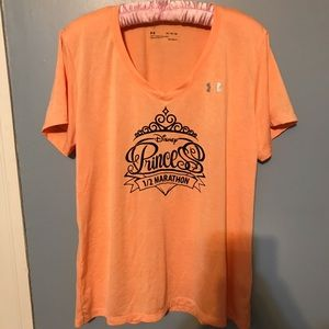 DISNEY UNDERARMOUR Orange 1/2 Marathon shirt sz XL